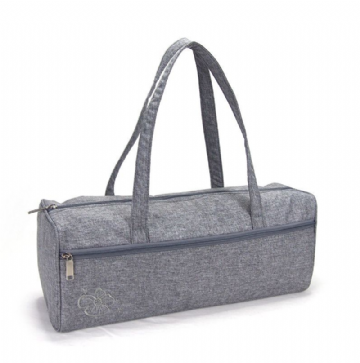 Woolcraft Knitting / Craft Bag - Charcoal Embroided